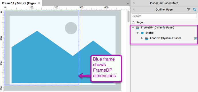 Dynamic panel frame setup