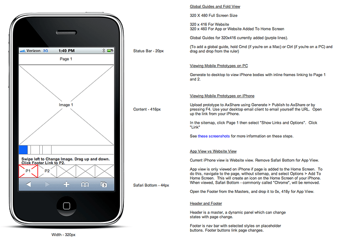 iPhone App Example for Designing a Mobile Website/App