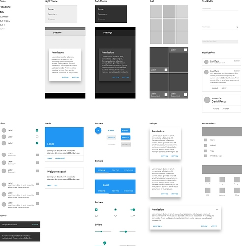 Material Design Axure Library - Tips, Tricks, and Examples - Axure ...