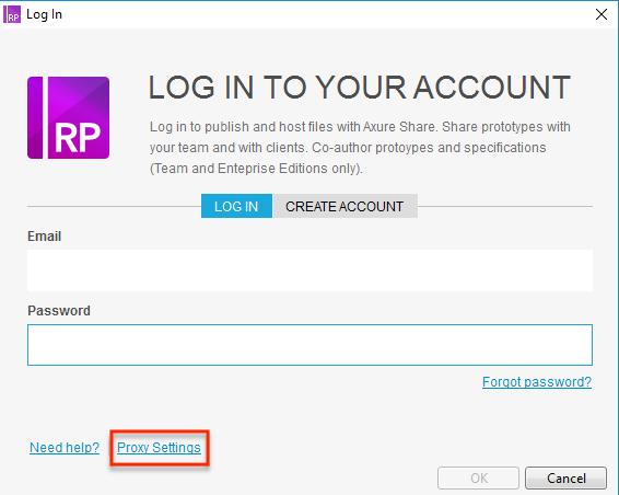 Proxy to login