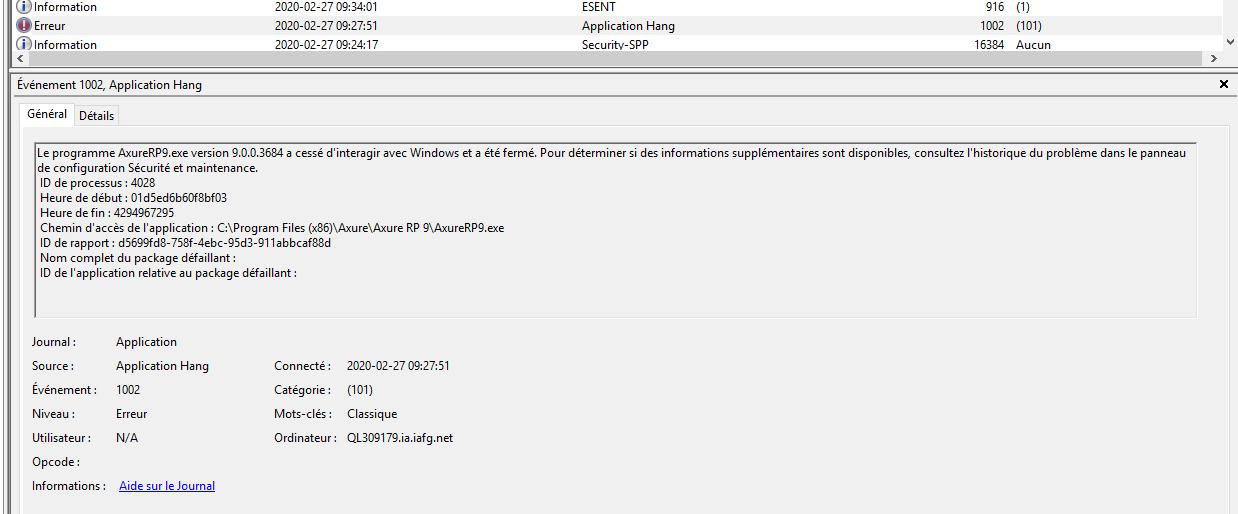 732903f80d8355c5596e3be470e27a5d96ce000e - Application Hang 1002 Windows 10